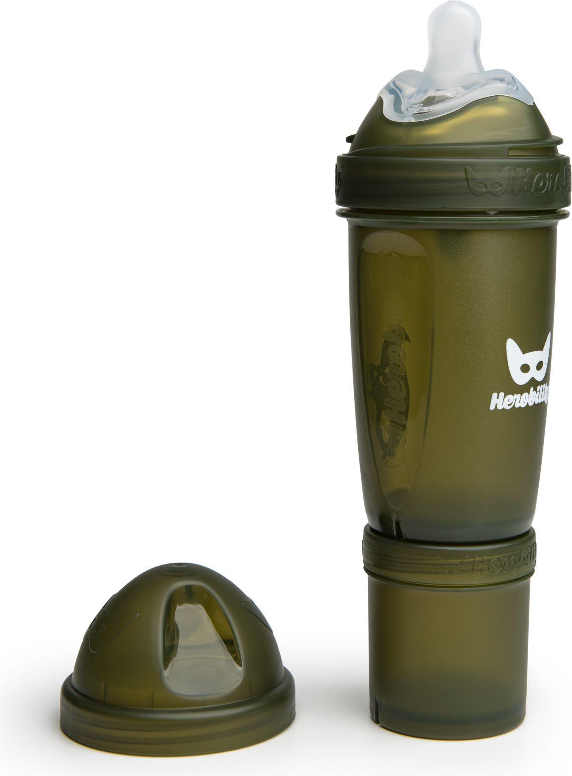 Herobility Butelka  Anti-Colic HeroBottle 240 ml, army green 7350004050079 aksesuāri bērniem