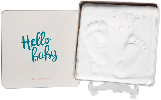 Baby Art Magic Box Essentials komplekts mazuļa pēdiņu/rociņu nospieduma izveidošanai 3601094300 bērnu rotaļlieta