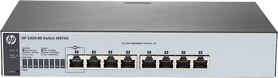 HPE 1820-8G Switch komutators