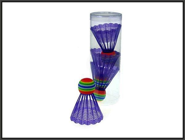 Hipo shuttlecocks colored 4 pcs 6933A (HC0185) badmintona rakete