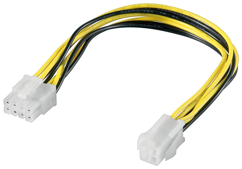 Goobay 51358 ATX12 P4 PC power cable/adapter; 4-pin to 8-pin, 0.2m kabelis datoram