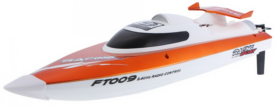 Motorboat FT009 2.4GHz RTR (46cm in length, speed up to 30km/h, 540 class engine) - Orange FT009-ORG