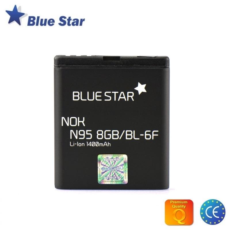 Blue Star HQ Nokia N78 / N79 / N95 8Gb Analogs Akumulators 1400 mAh (BL-6F) akumulators, baterija mobilajam telefonam