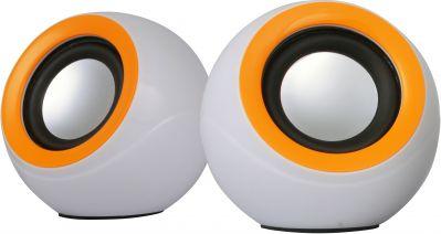 Omega OG116BWO Stereo 2.0 ar 3.5mm Audio / USB Strāvas pieslēgumu 2x 3W Baltas datoru skaļruņi