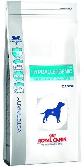 Royal Canin Veterinary Diet Canine Hypoallergenic Moderate Calorie 14kg barība suņiem