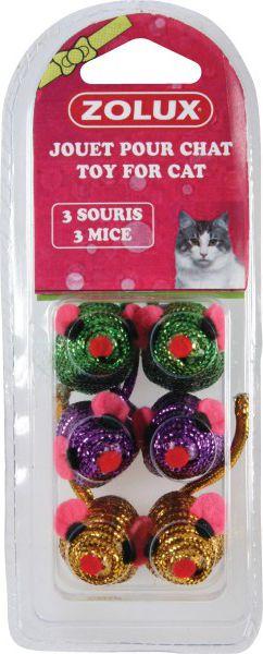 Zolux Zabawki dla kota 6 malych myszek 1104537 piederumi kaķiem