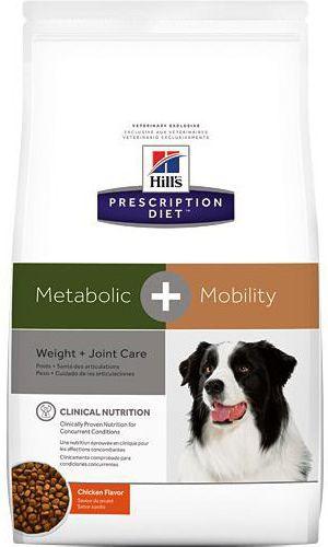 Hills Prescription Diet Metabolic + Mobility Canine with Chicken 4kg barība suņiem