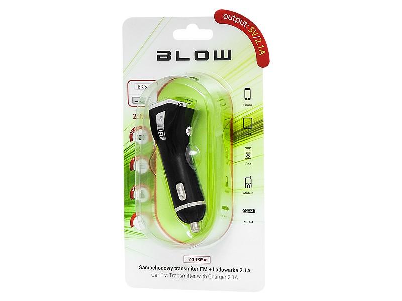 BLOW Transmiter FM USB  + charger 2,1A FM transmiteris