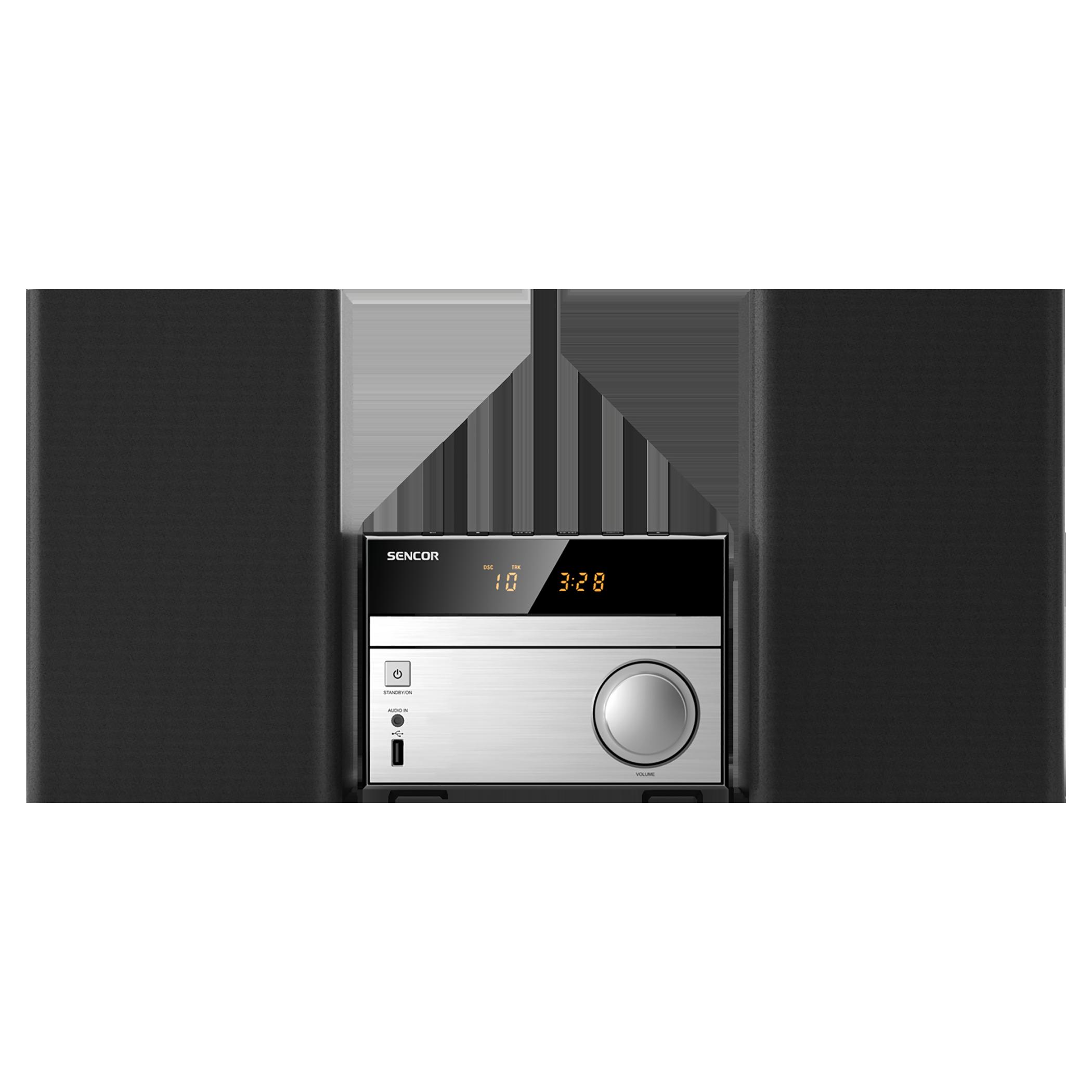 SENCOR Mikro audio sistēma. 30W SMC 4300 BR mūzikas centrs