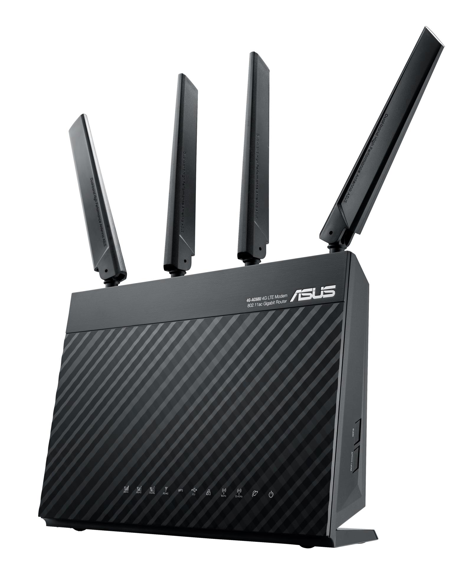 ASUS 4G-AC68U AC1900 Dualband Gigabit LTE WLAN Router WiFi Rūteris