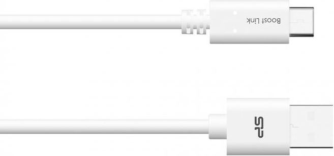 Silicon Power Cable USB TypeC - USB, Boost Link LK10AC, 1M, 2.4A, White, Bulk USB kabelis