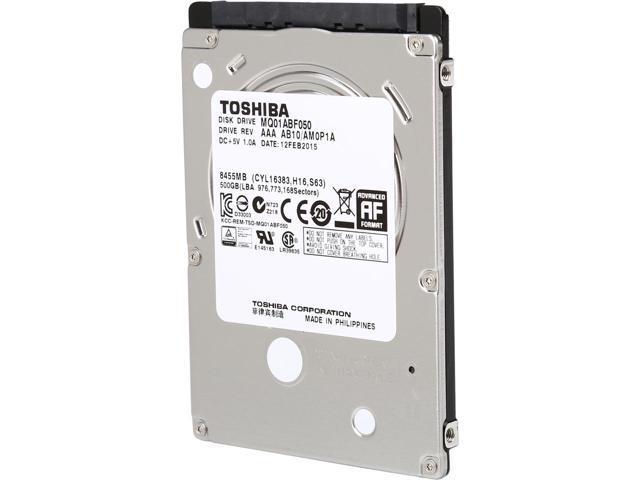 TOSHIBA MQ01ABF050 (2.5'', 500GB, 8MB, 5400RPM, SATA 3 Gb/s) BULK cietais disks