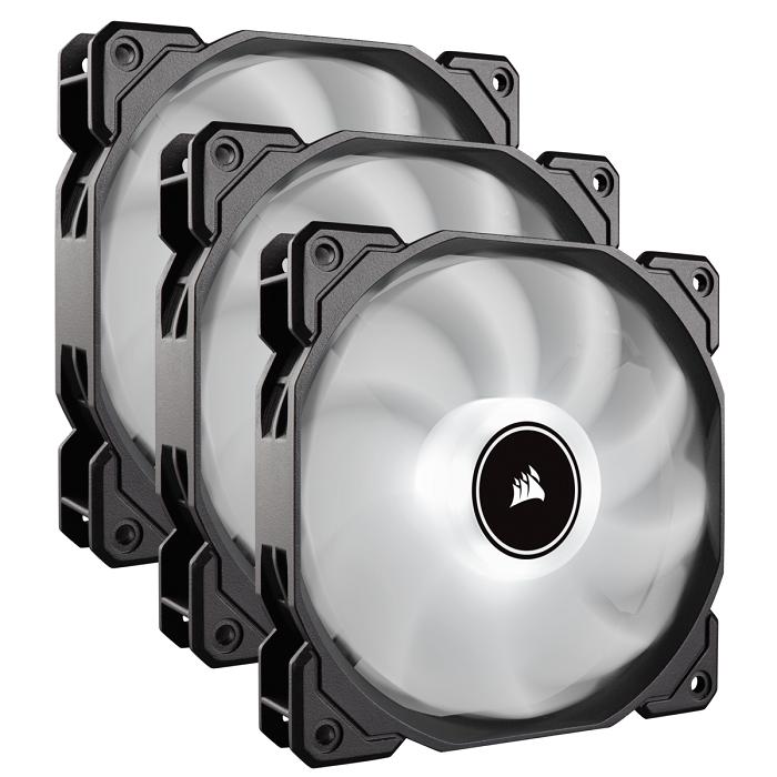 Corsair AF120 LED High Airflow Fan 120mm, low noise, triple pack, white ventilators