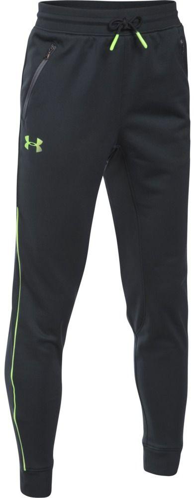 Under Armour Spodnie dzieciece Pennant Tapered Pant czarno-zielone r. XL  (1281072-016) 1281072-016
