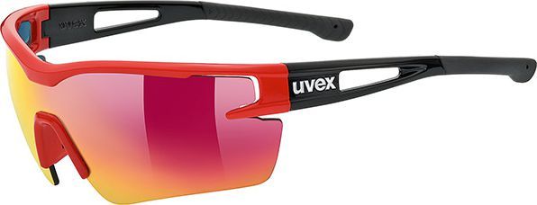 UVEX Okulary Sportstyle 116 Czarno-czerwone (53977) 53/1/977/3216/UNI