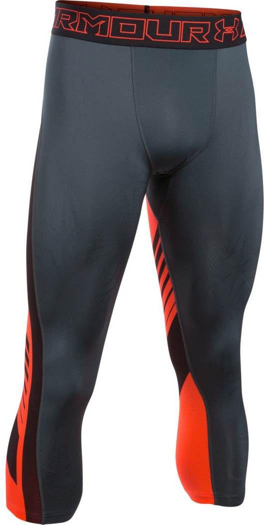 Under Armour Spodnie meskie Supervent Compression Grey/Orange r. L (1289581008) 1289581-008