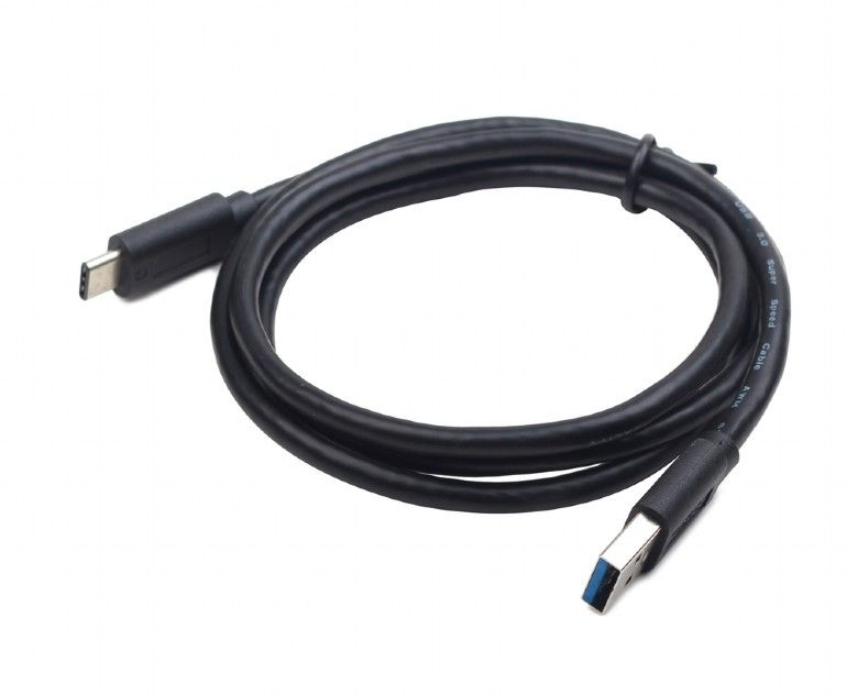 USB 3.0 type C cable AM/CM/0.5m/black USB kabelis