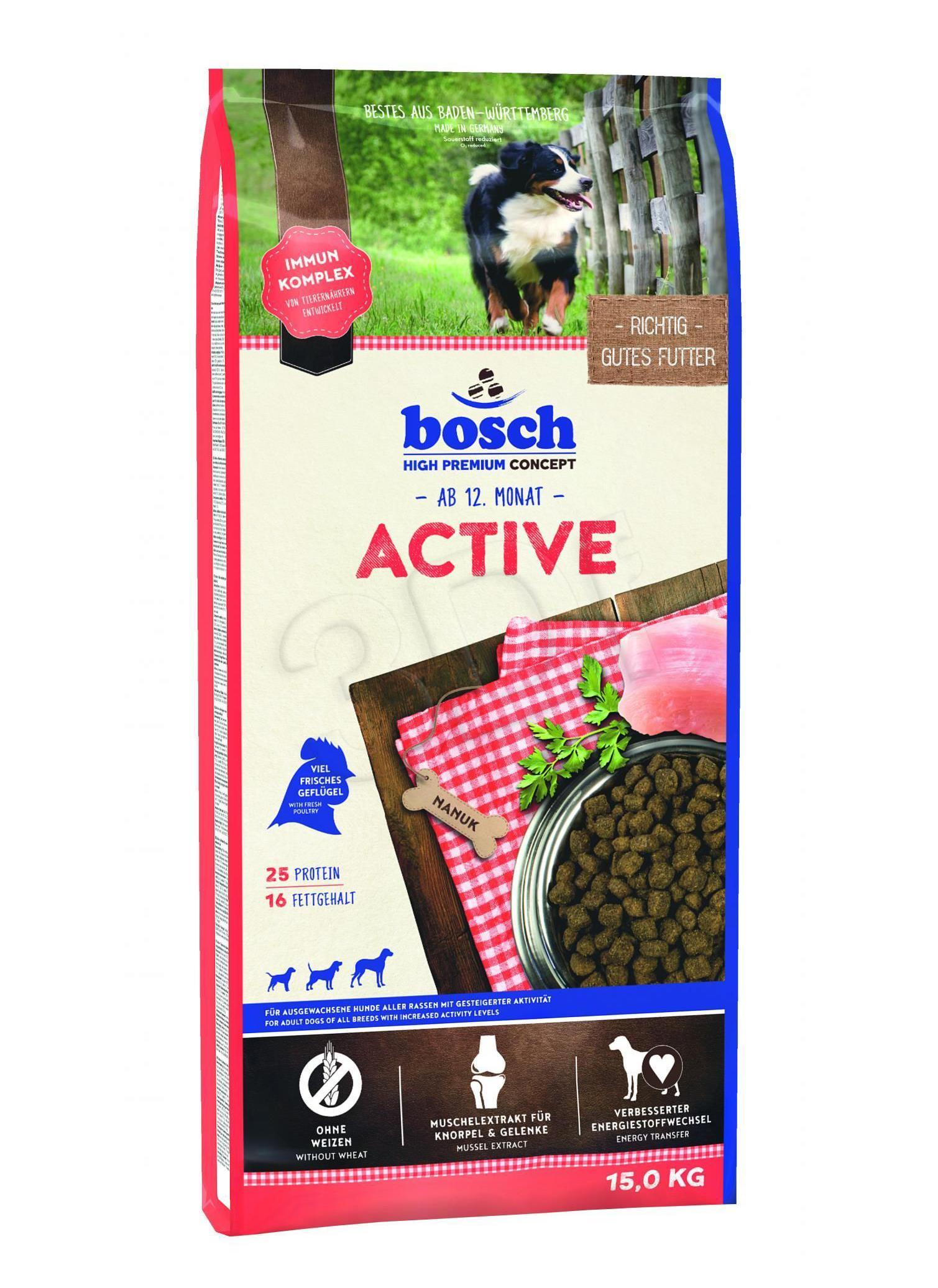 Bosch Active 15kg barība suņiem