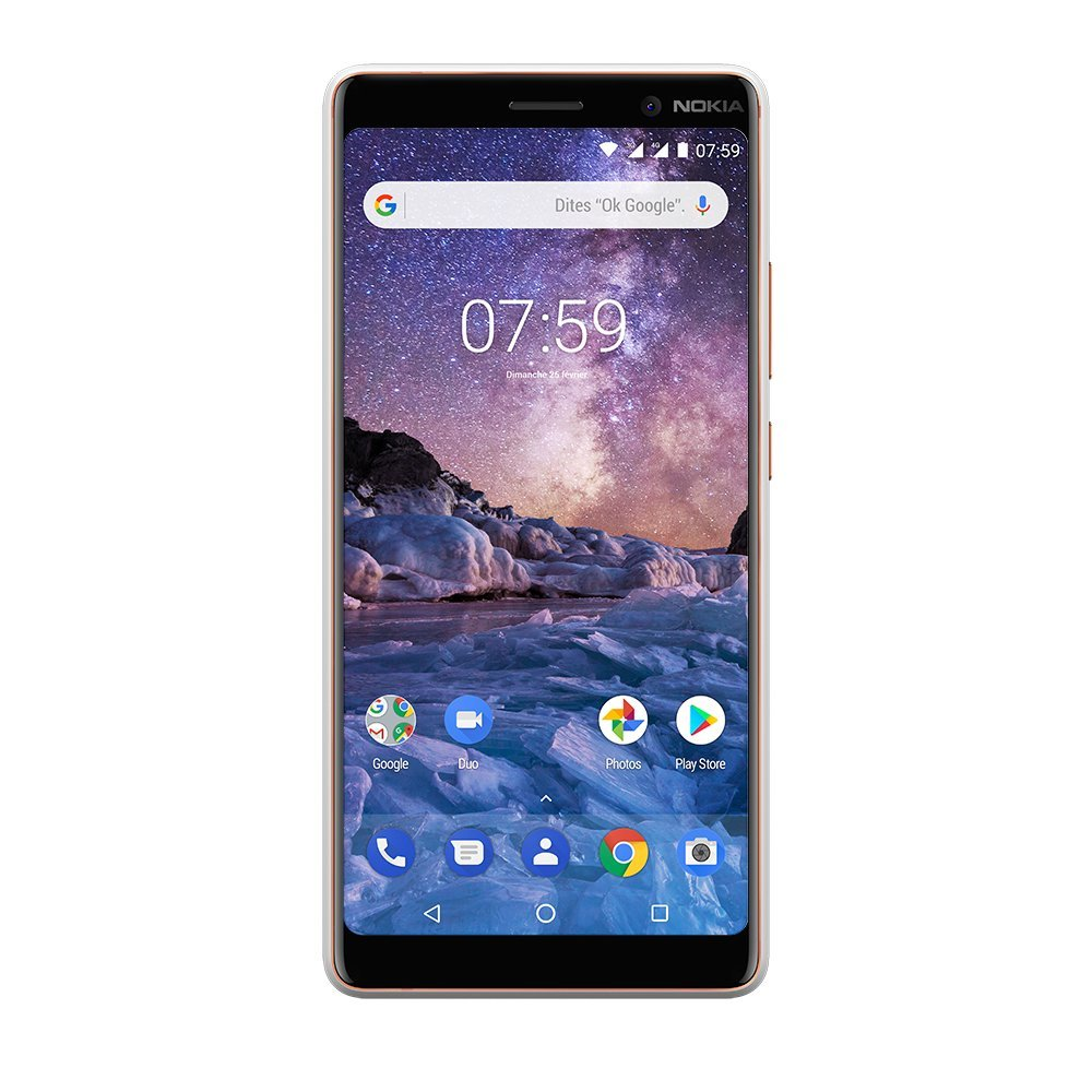Nokia 7 Plus 64GB Android One white Mobilais Telefons
