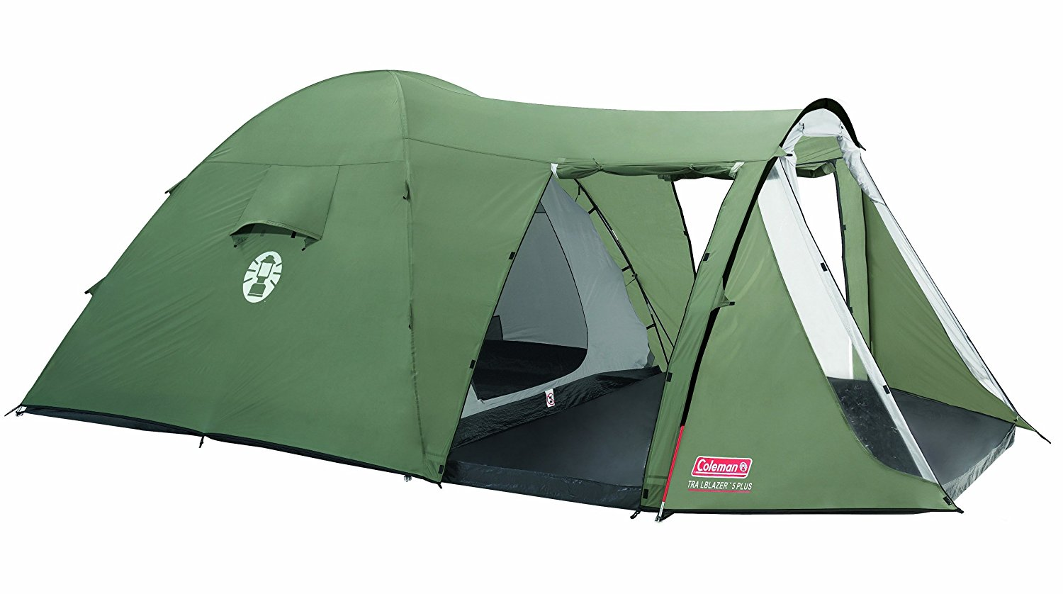 Coleman 5-person Dome Tent TRAILBLAZER 5 PLUS - dark green telts Kempingiem, pārgājieniem