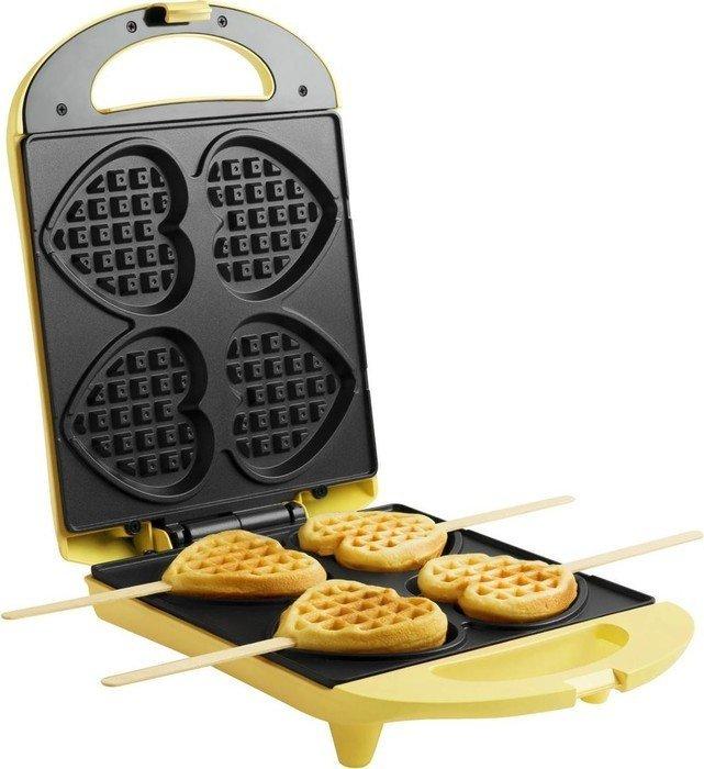 Bestron Heart Waffle Maker DSW271 - yellow DSW271 vafeļu panna