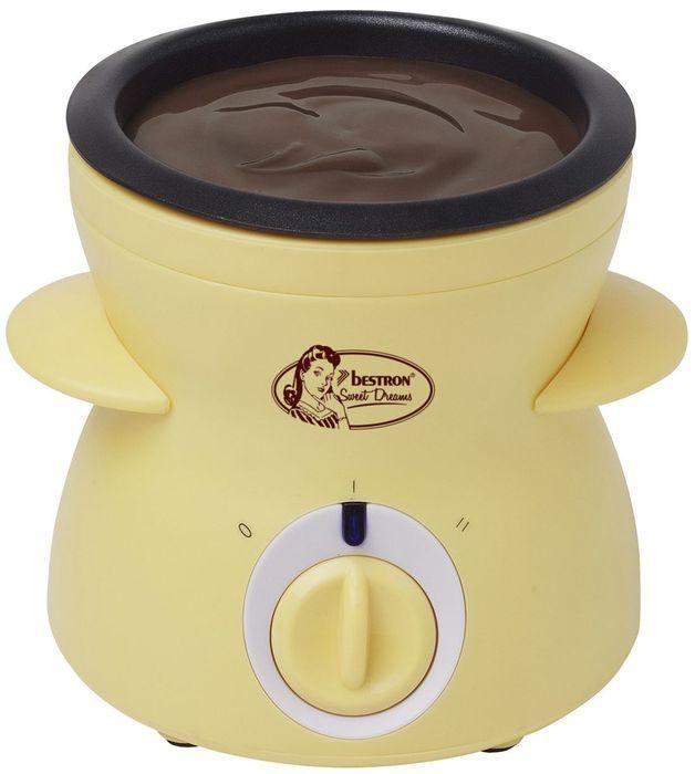 Bestron Chocolate Fondue DCM043 - yellow vafeļu panna