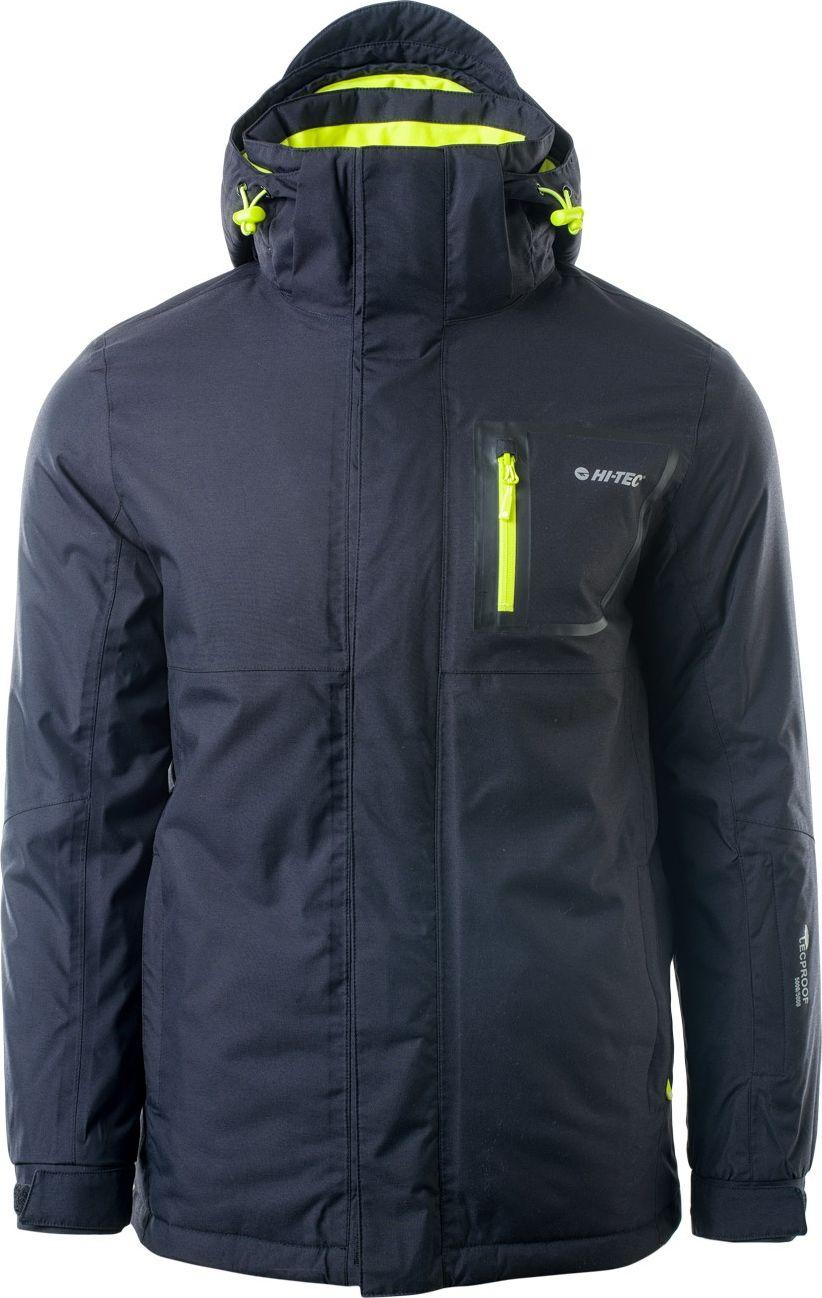 Hi-tec Men's ski jacket Nanuk Black / Yellow Green, L