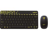 Logitech MK240 NANO RF Wireless Russian Black,Yellow keyboard 920-008213 klaviatūra