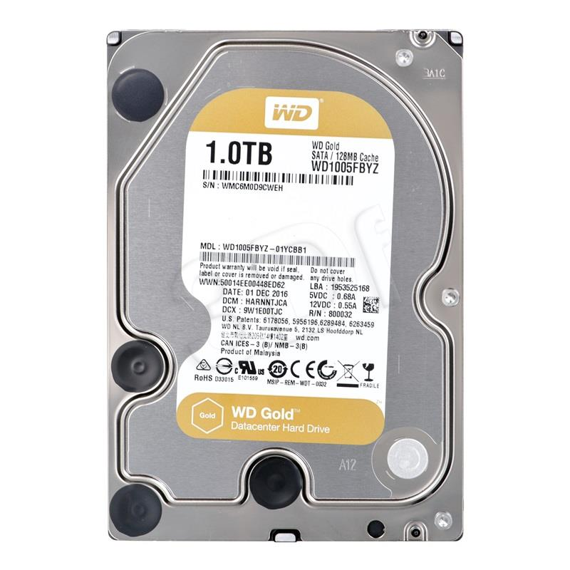 Server HDD WD Gold3.5'' 1TB SATA3 7200RPM 128MB cietais disks