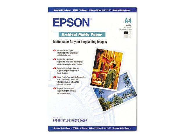 EPSON paper matt archival A4 50sh foto papīrs
