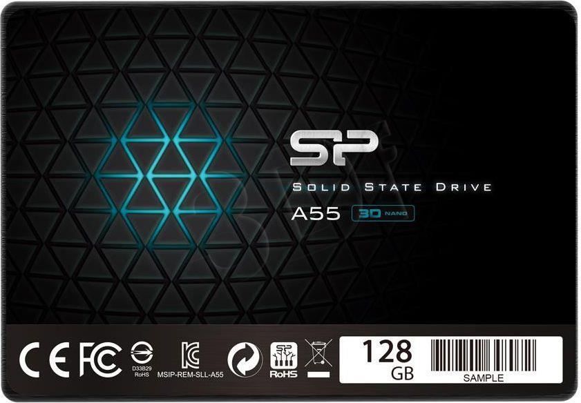 Silicon Power SSD 128GB 2.5'' Silicon Power Ace A55  SATA3 R/W:540/420 MB/s 3D NAND SSD disks