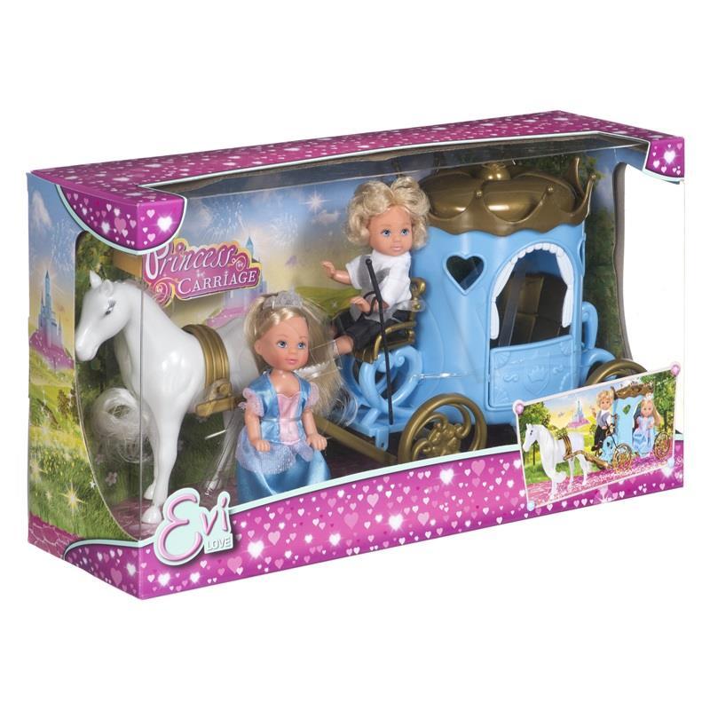 EVI i Timmy w karecie bērnu rotaļlieta