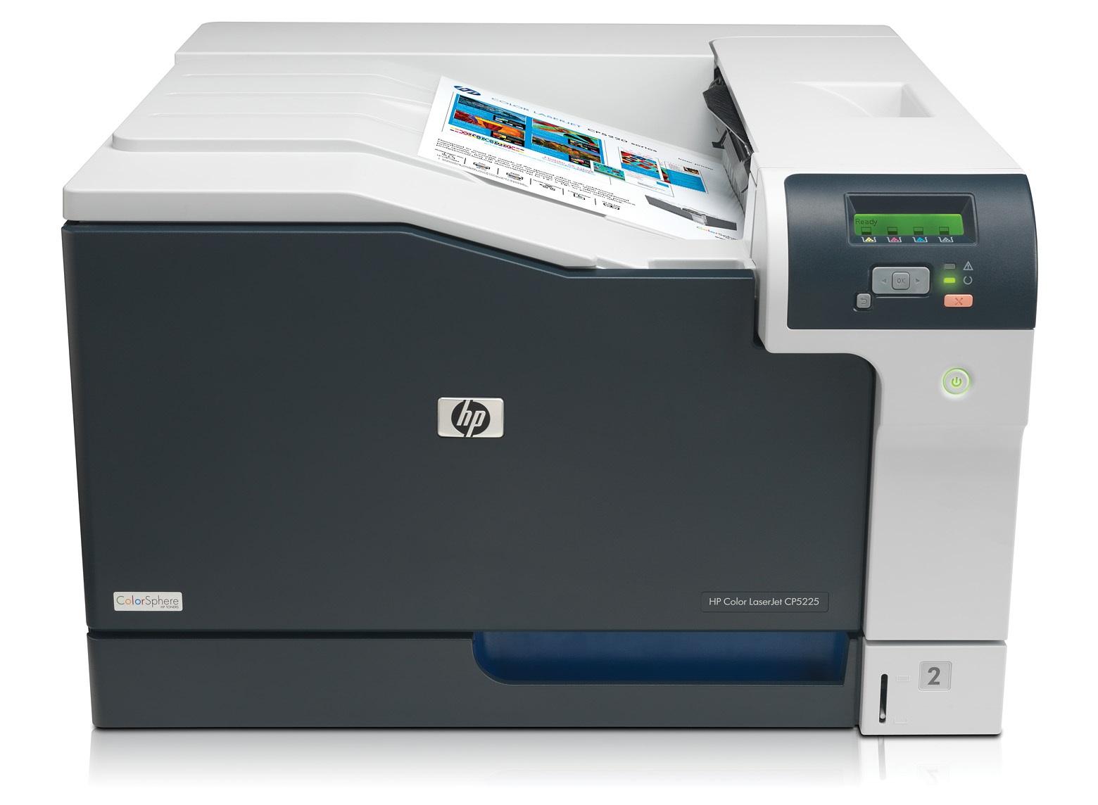 HP Color LaserJet CP5225dn 192MB 20ppm A3 LAN + DUPLEX printeris