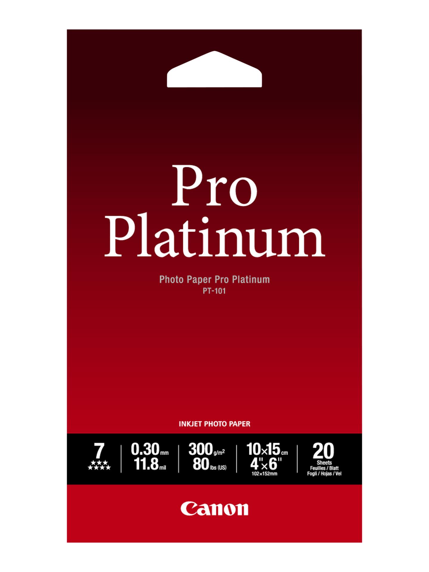 Canon paper PT101 4X6  20UNI 2768B013 papīrs