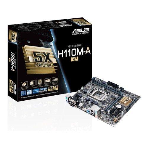 ASUS Mainboard H110M-A/M.2 LGA1151 mATX pamatplate, mātesplate
