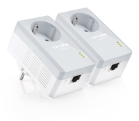 TP-Link TL-PA4010P AV500 Powerline Adapter AC PassThrough StarterKit (Twin Pack) POWERLINE adapteri