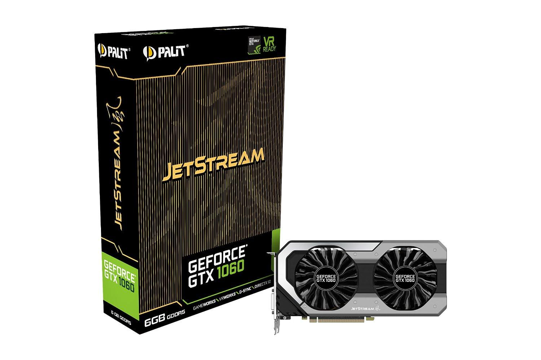 PALIT GeForce GTX 1060 JetStream, 6GB GDDR5 (192 Bit), HDMI, DVI, 3xDP video karte