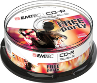 Emtec Disc CD-R  [ cake box 25 | 700MB | 52x ] matricas