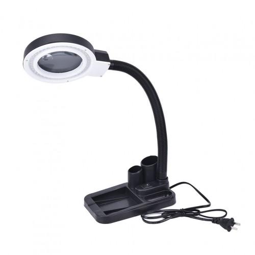 Palielinams rokdarbu stikla galda lampa ar 5X 10X lupu ar 40 LED apgaismojuma TB 5x10x40l