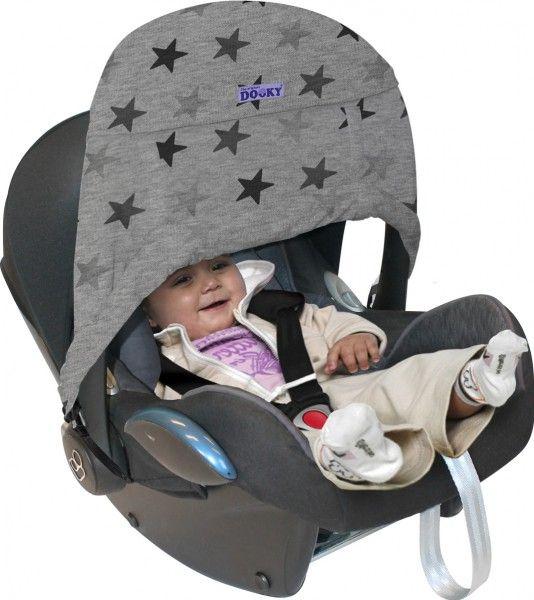 Xplorys Oslonka do fotelika Dooky Zero+ Grey Stars T-XP-126316 Bērnu sēdeklīšu aksesuāri