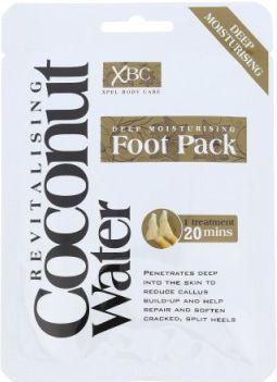 Xpel Coconut Water Deep Moisturising Foot Pack 1132390 Roku, pēdu kopšana