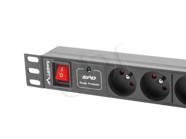 Surge protector Rack PDU 1U 4x PL 4x C13 2m elektrības pagarinātājs