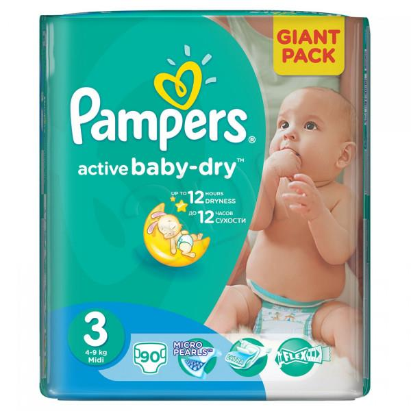 Pieluchy PAMPERS Act. Baby Giant Pack 3 midi 90szt 4015400736226