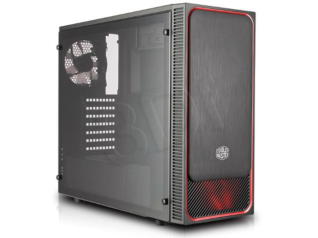 PC Case MasterBox E500L black-red Datora korpuss