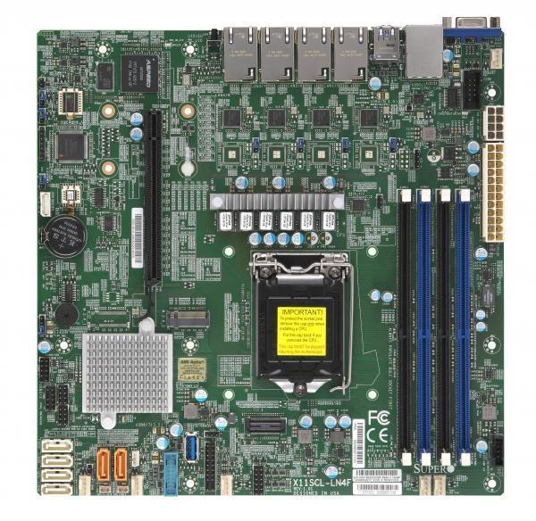 Plyta serwerowa Supermicro MBD-X11SCL-LN4F-O (LGA 1151; 4x DDR4 DIMM; Micro ATX) MBD-X11SCL-LN4F-O
