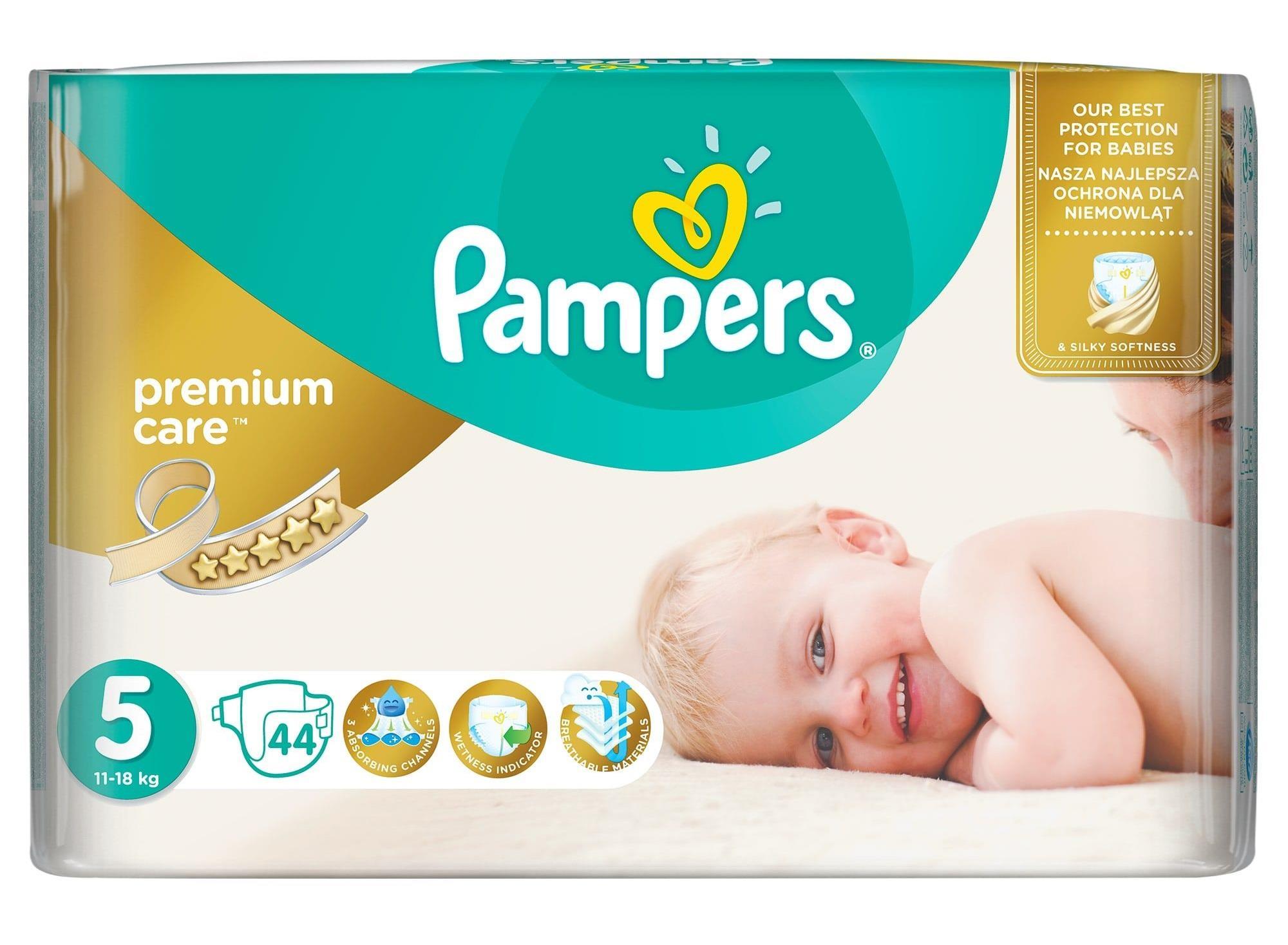 Pieluchy PAMPERS Premium Care 5 Junior 11-25kg 44sz 4015400278870