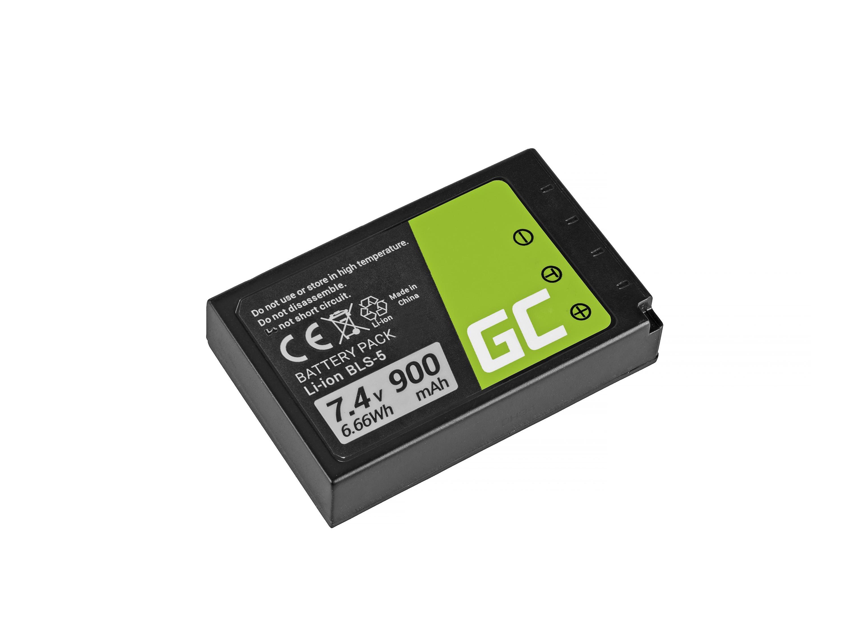 Green Cell  BLS-5 / BLS-50 for Olympus OM-D E-M10, PEN E-PL2, E-PL5, E-PL6, E-PL7, E-PM2, 7.4V 900mAh Baterija