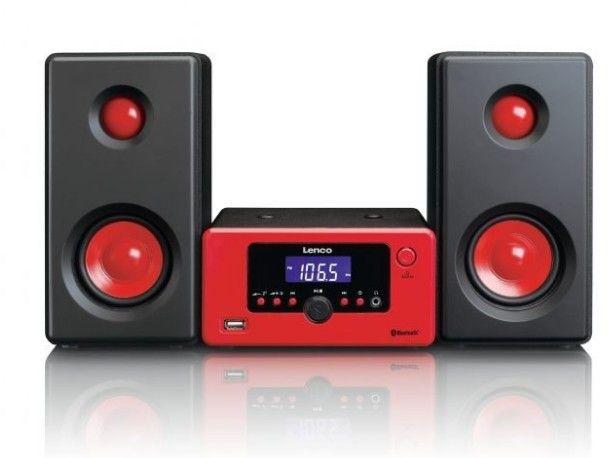 Lenco MC-020 red mūzikas centrs