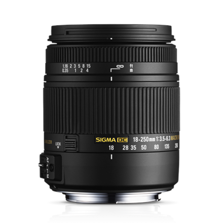 Sigma 18-250mm F3.5-6.3 DC Macro OS HSM for Canon foto objektīvs
