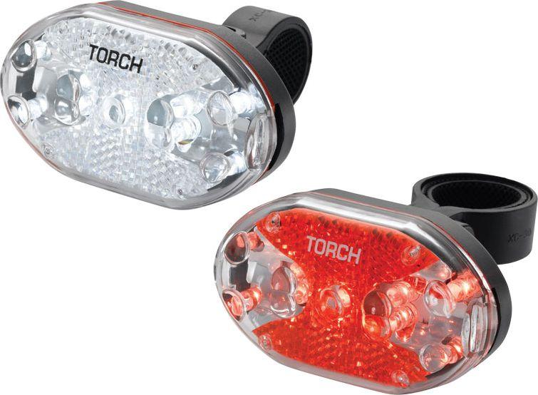 TORCH Zestaw lampki CYCLE LIGHT SET WHITE BRIGHT 9X + TAIL BRIGHT 9X (TOR-54035) TOR-54035